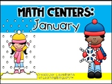 January Math Centers in Spanish