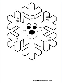 January Math Crafts Adding Three-Digit Numbers with Regrouping