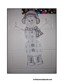 January Math Crafts Subtracting Three-Digit Numbers without Regrouping