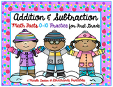 Addition and Subtraction to 10 WINTER Math Pack by Ms. Lendahand:)