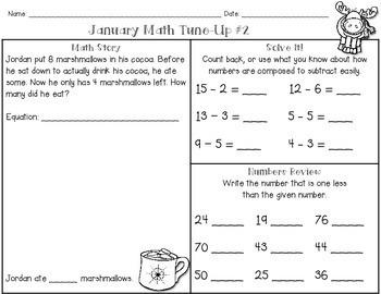 January Math First Grade