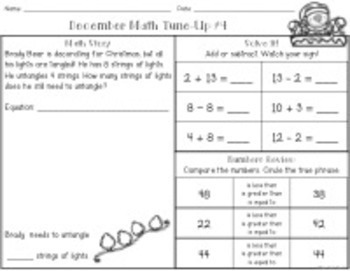 First Grade Math Tune-Ups Bundle