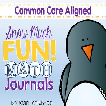 January Math Interactive Journal First Grade