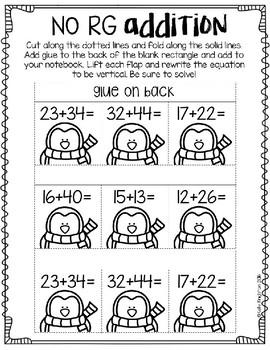 January Math Interactive Journal Second Grade