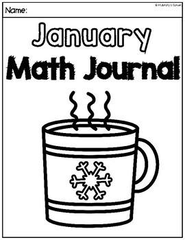 January Math Journal (Kindergarten - Common Core)
