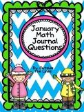 January Math Journal 1st grade