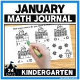 January Kindergarten Math Journal