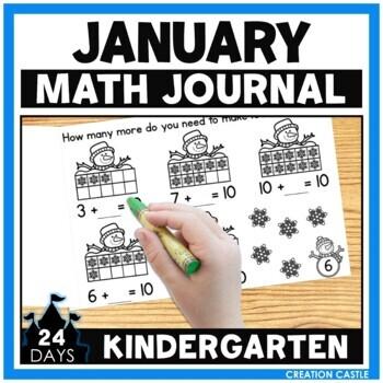 January Math Journal - Kindergarten
