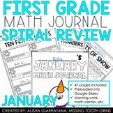 January Math Journal (1st Grade)