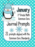 January Math Journal Prompts - 1st Grade. Common Core