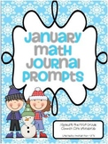 January Math Journal Prompts For First Grade