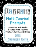 January Math Journal Prompts for 2nd Grade