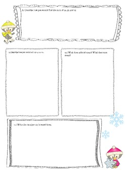 January Math Journal Prompts for 2nd grade (common core aligned)