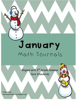 January Math Journal: Second Grade Common Core
