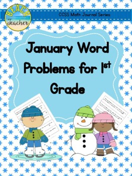 January Math Journal Word Problems for 1st Grade