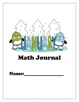 January Math Journal for K and 1st