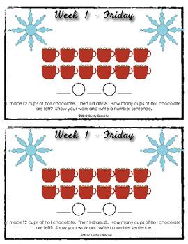 January Math Journals - 20 Days of Math Fun!