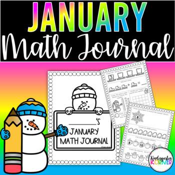 January Math Journal Kindergarten