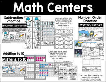 January Math & Literacy Activities Bundle