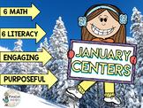 January Math & Literacy Centers BUNDLE