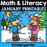 January Math & Literacy No-Prep {Kindergarten}