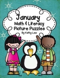 January Math & Literacy Picture Puzzles
