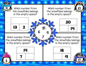 January Math Mats {first grade}