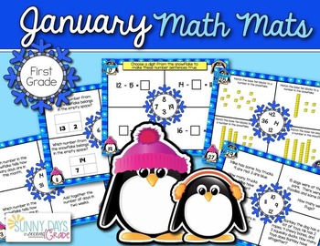January Math Mats {first grade}