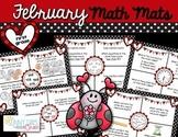 February Math Mats {first grade}