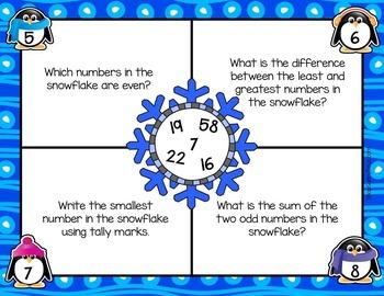 January Math Mats {second grade}