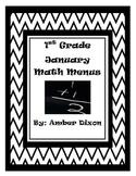 January Math Menus
