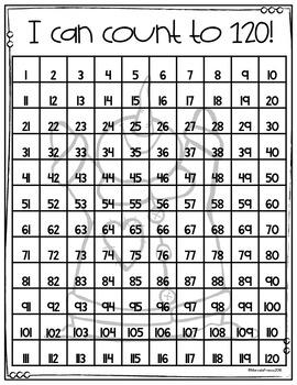 January Math Number Charts FREEBIE