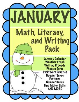 January Math, Literacy, & Writing Pack