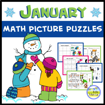 January Math Picture Puzzles
