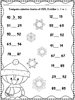 January Math Practice in Spanish for SECOND GRADE