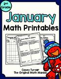 January Math Printables - 2nd Grade