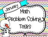 January Math Problem Solving Tasks
