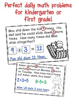 January Math Problem of the Day Mini Book
