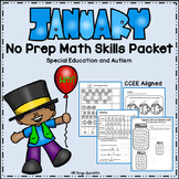 January Math Skills Packet - Special Education and Autism