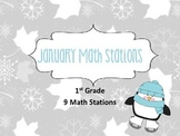 January Math Stations for First Grade