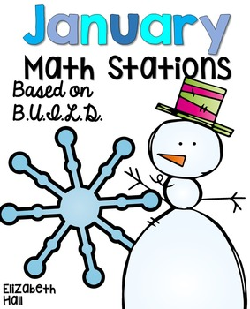 January Math Stations {Based on BUILD}