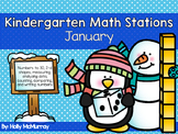 January Math Stations for Kindergarten