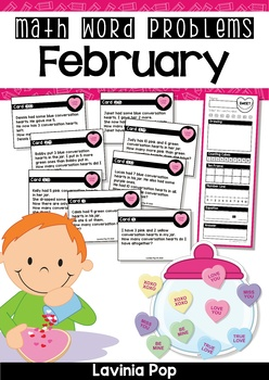 February Math Word Problems (up to 10)