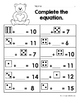 January Math Worksheets & Centers for First Grade (English) Winter 1st