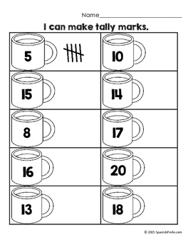 January Math Worksheets & Centers for Kindergarten (English) (Winter)