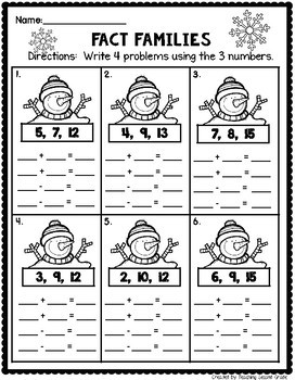 january math worksheets for 1st grade by teaching second grade tpt. Black Bedroom Furniture Sets. Home Design Ideas