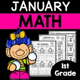 January Math Worksheets for 1st Grade