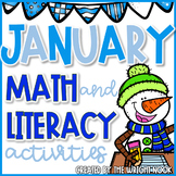 Math and Literacy Activities Bundle for January