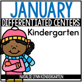 January Math and Literacy Centers for Kindergarten