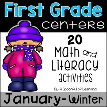 January Math and Literacy Centers - First Grade